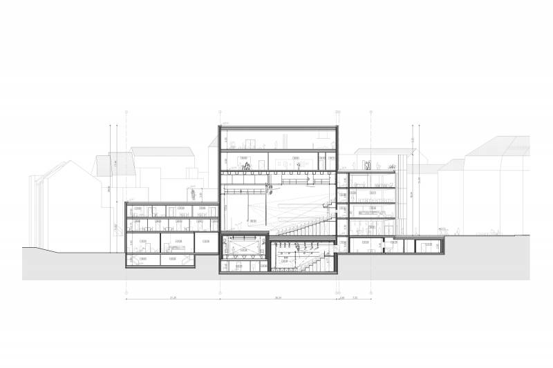 195.V+.Maison de la culture.Plans.COUPE1 LD